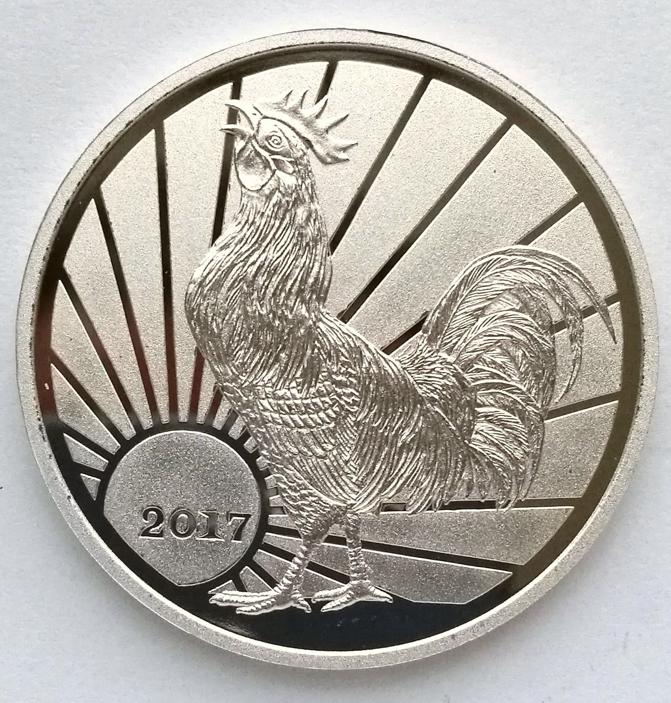 "L3220, Korea ""Rooster Year"" Commemorative Coin, 2 Won, 2017"